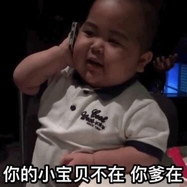 小胖接电话:你的小宝贝不在,你爹在表情包